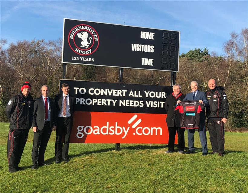 Goadsby with Bournemouth and Rippa Rugby, Scrum Together