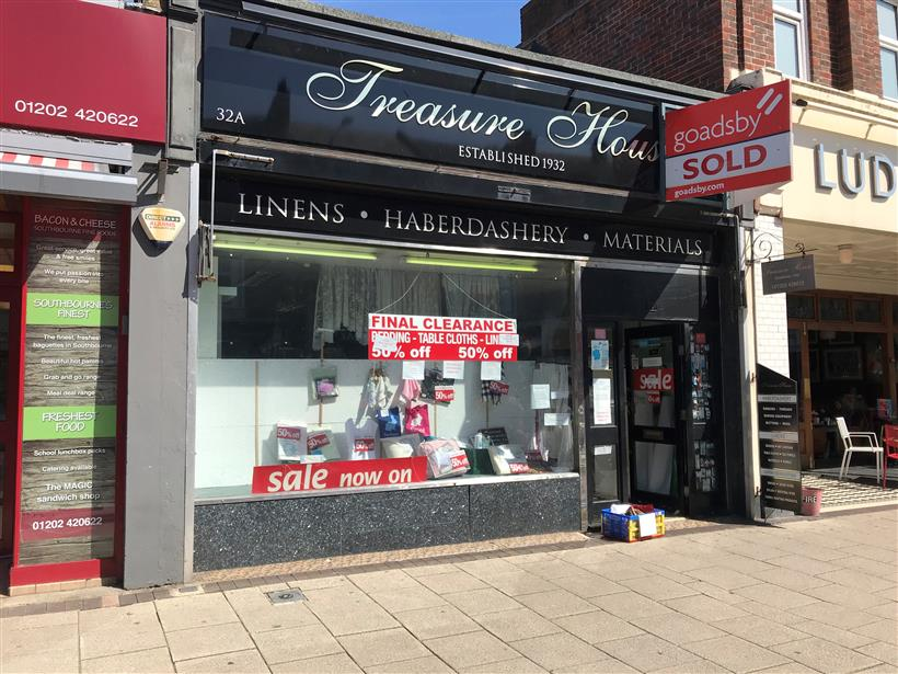 Southbourne Haberdashery Shop Sold Through Goadsby